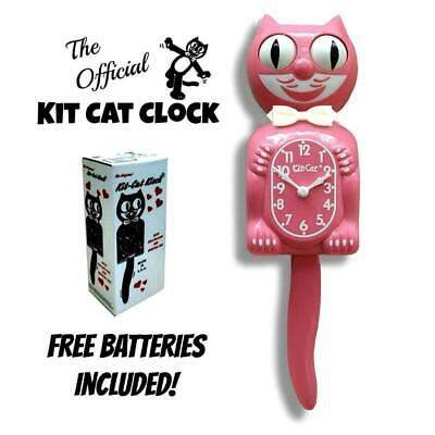 STRAWBERRY ICE KIT CAT CLOCK 15.5