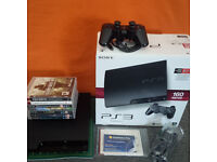 PS3 PLAYSTATION 3 SLIM CONSOLE 160GB & various Games [boxed as new]