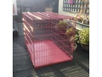 Still boxed extra large pink dog crate