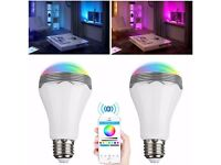 Smart led Light bulb comes with remote and plays music!