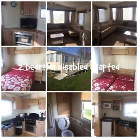 2 bedroom disabled access Caravan on St Osyth Beach essex