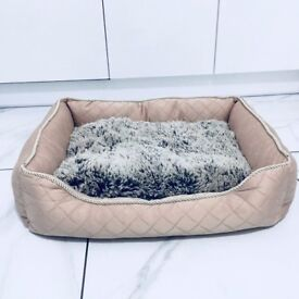 Brand New Pink Dog Bed With Fur Small/Medium
