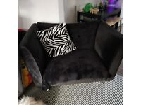 Black cuddle chair perfect condition