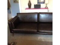 BROWN LEATHER SETTEE FOR SALE