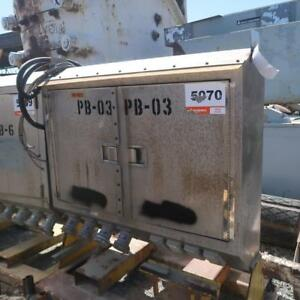 CUTLER HAMMER Stainless Steel Distribution Box with breakers