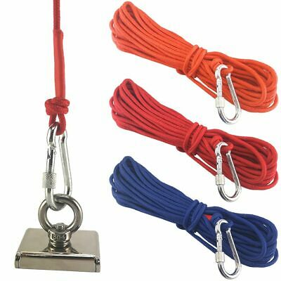 33ft Long Ropes Fishing Recovery Magnet Rope Tent Camp Tow Rope With Carabiner