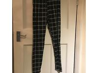 Black and White Striped Soft Leggings