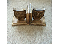 Wooden Owl Book ends