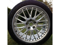 Alloy wheel,19 inch Audi Speedline with 255/40 Dunlop tyre for sale