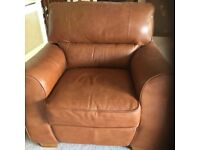 Tan leather Winston chair - as new