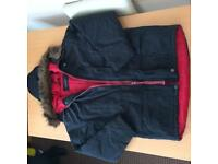 New unworn Black Jacket with removal fur around the hood, size small