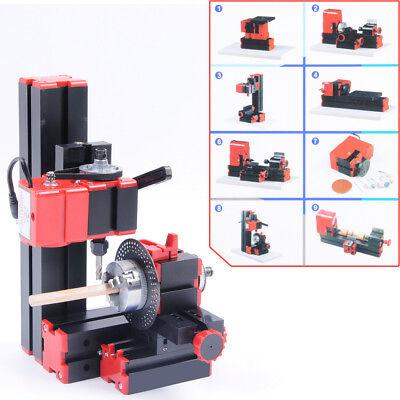 Vi Cnc Mini Classic Lathe Tool 8 In 1 Milling Machine Sawing Driller Grinder