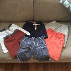 6 pairs of boys shorts - aged 5 or 5-6