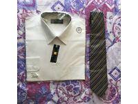 Hesketh & Turner White Shirt & Borden Tie