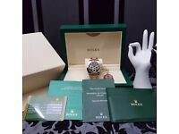 New TwoTone Rolex Daytona with Black Face Comes Rolex Bagged And Boxed With Paperwork