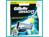 2 packs of Gillette Mach 3