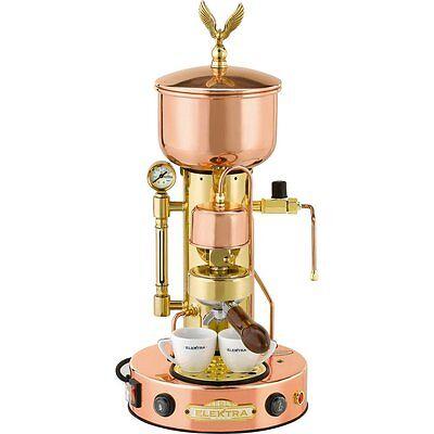 Elektra Semiautomatica Microcasa Espresso Cappuccino Machine Copper Brass 220v