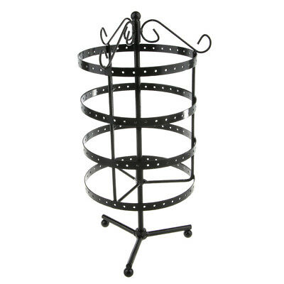 148-hole Earring Jewelry Display Stand Rack Holder Rotating Hanger Black