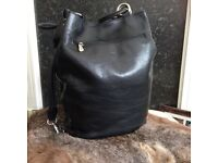 Large Italian Leather Tote Shopper Duffle Bag