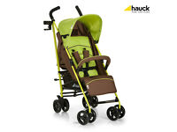 NEW IN BOX HAUCK SPEED PLUS LIGHTWEIGHT BUGGY STROLLER IN GREEN WITH RAIN COVER FROM BIRTH.