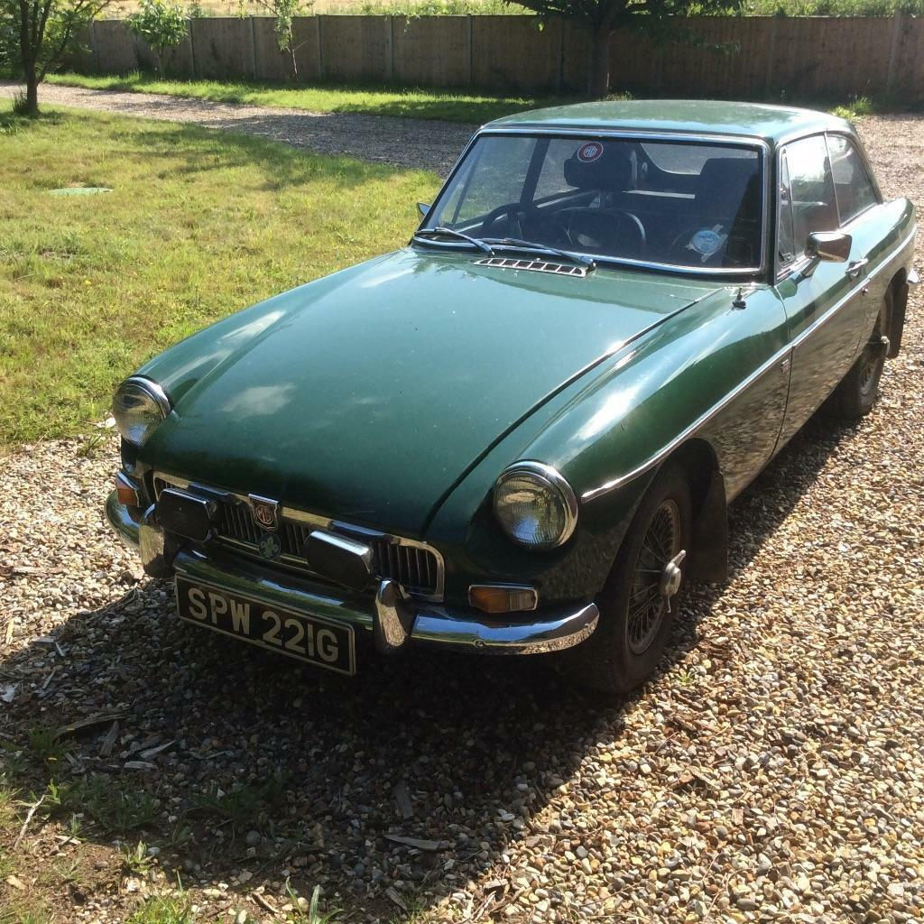 MGBGT - 1969 green, wire wheels, chrome bumpers, etc | in Norwich ...