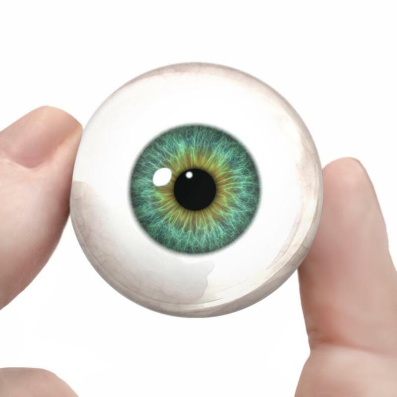 Green Glass Doll Eyes Realistic Human Taxidermy Eyeballs 35mm