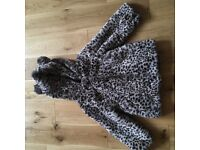 Girls fur jacket immaculate condition as new age 3/4