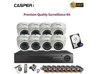 CASPERi CCTV Verifocal Dome 2.0MP Night Vision Camera DVR Home Security System