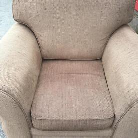 Beautiful brown arm chair sofa settee