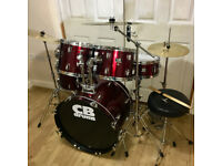 Fully Refurbished CB Drum Kit with New Cymbals ~ Free Local Delivery/SetUp