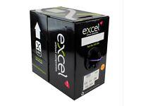 Excel Violet Cat5e Ethernet Cable RJ45 LAN Data Reel U/UTP B2ca LS0H - Part Reel