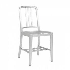 Navy Style Aluminium chair - £20