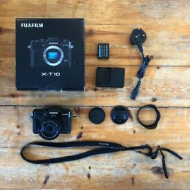Fujifilm Fuji X-T10 (Black) digital camera with 16-50mm Lens