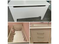 Mamas & Papas nursery furniture changing unit/ cot bed/ toy box