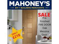 Messina Oak Pre-Finished Fire Door