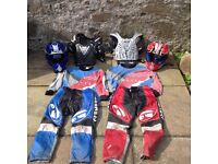 Kids motocross/quad bike gear