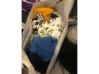 Two bags full with boys clothes sizes 12-18 18-24 24-28