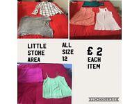 Ladies size 12clothes