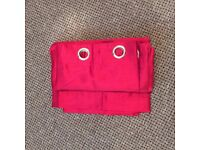 RED RING TOP CURTAINS, 66 X 72, FULLY LINED