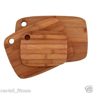 3-Piece Bamboo Cutting Board Set, Free Shipping for Kitchen, Gentle for Knives