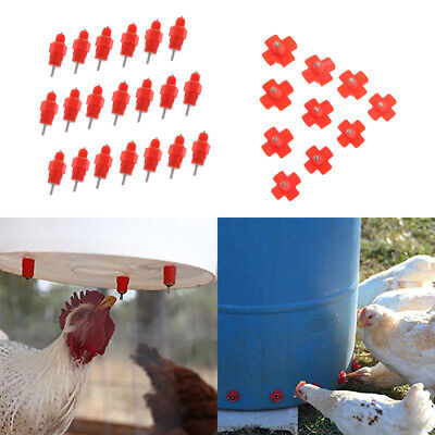 30 Pcs Automatic Chicken Water Nipple Drinker Feeders For Poultry Hen
