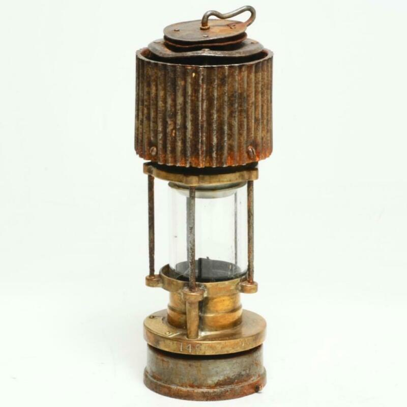 VINTAGE PATTERSON TYPE HCP FELLING ON TYNE BRASS MINERS LAMP / LANTERN