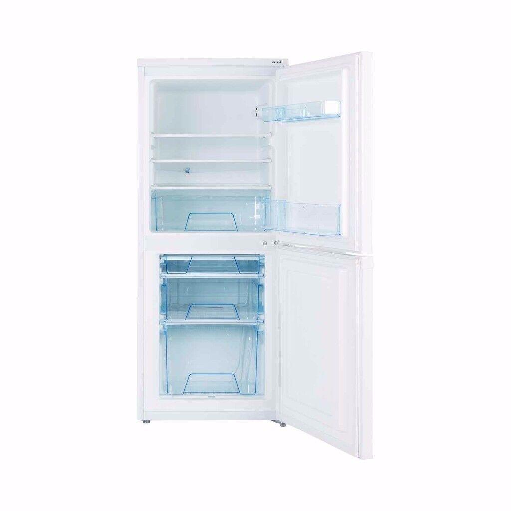 LEC white fridge freezer