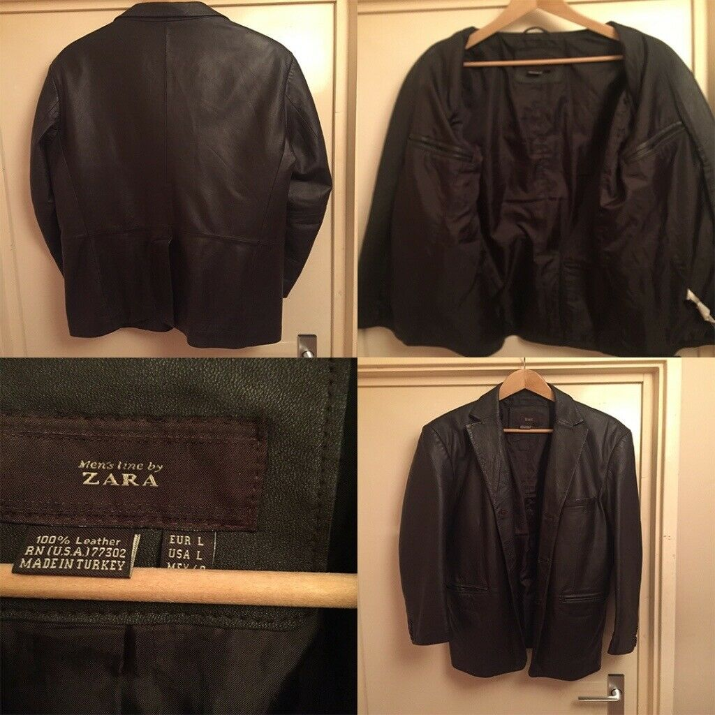 For Sale Mens Brown Real 100 Leather Jacket Bought From Zara