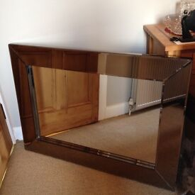 Wall mirror suitable for above fireplace or any wall