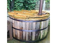 Hot tub , internal wood burning stove, 4-6 people, free local delivery