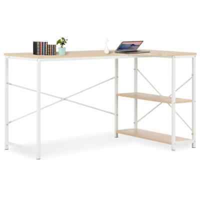 Wood Computer Desk With Storage Shelves Modern Pc Desk Home Office Study Table