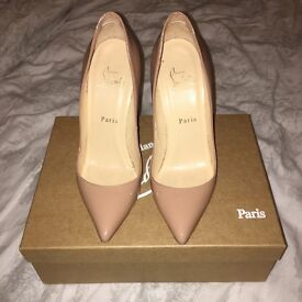 Loboutin pigalle 120 nude patent