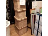 Large and medium wicker storage