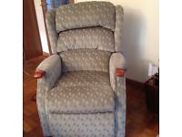 Celebrity recliner chair. Green fabric. Little used.